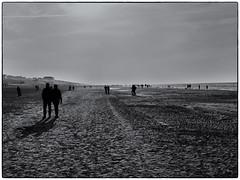 Wandeling (Kruijssen) Tags: fujifilmx30 strand zandvoort wandeling blackwhite zwart wit zand