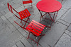 Red table and chairs on Times Square (Jan van der Wolf) Tags: map141359ve tafel table chairs stoelen street composition compositie perspective perspectief pov red rood redrule newyork timessquare nyc straat urban
