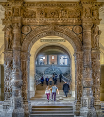 Portal of Stanga Palace Louvre Museum. (capvera) Tags: portail stanga castelnuova door louvre museum paris sonyilce a7mii artphotos