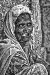 untouchable (mat56.) Tags: ritratto ritratti portrait portraits untouchable untouchables intoccabili donna vecchia old woman rughe wrinkles face faccia viso volto sguardo look bianco black nero white rajasthan india asia antonio romei mat56 dolore pain espressione expression