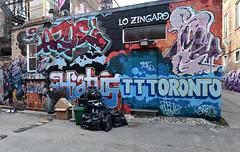 quickage-DSC_0481-DSC_0484 v2 (collations) Tags: ontario toronto graffiti jaroe smug hiatus adore robot lsd lsdcrew ttt tttcrew