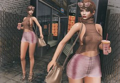 ♚ 199 ♚ (Luxury Dolls) Tags: reign ak adrisking kc kendrasycreations donut fashion bag tan pink blog blogger pseudo revoul theepiphany gacha truth gift groupgift
