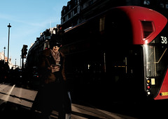 Piccadilly, 2017 (samrodgers2) Tags: colour londonlightandshade london londonstreetphotography street red bus walker