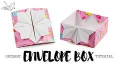 Origami Pop Up Box / Envelope Tutorial ♥︎ DIY ♥︎ Paper Kawaii (paperkawaii) Tags: origami instructions paperkawaii papercraft diy how video youtube tutorial