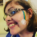Art Lounge: Face paint brought to us by Skye! And modelled by Molly!