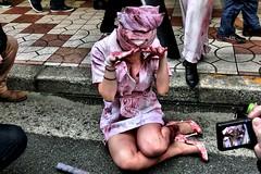 cosplay, Nippombashi Street Festa 2014, Osaka (jtabn99) Tags: japan cosplay osaka namba nurse nipponbashi  kosupure localtonemapping