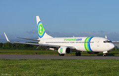 Transavia 737-800 F-GZHV (birrlad) Tags: ireland dublin paris france airplane airport taxi aircraft aviation airplanes landing airline boeing arrival airways airlines runway landed dub orly airliner transavia 737 arriving taxiway b737 737800 b738 fgzhv 73785h