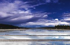 After thunder and lightning. (anek07) Tags: blue sky clouds nikon sweden himmel sverige reflektion blå autofocus värmland moln fryken