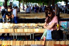 Southbank Book Market (KrzysztofStudniarek) Tags: street london girl book market southbank coulour