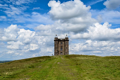 The Cage (AlexComiskey) Tags: park old uk england sky house castle history skyline architecture contrast rural countryside hall nikon europe estate cheshire country hunting victorian stormy sharp national trust keep historical moors british grassland rugged lyme d3300