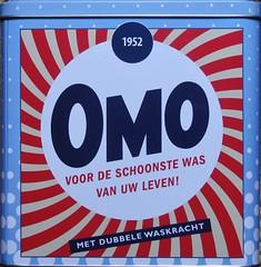 OMO -2- (streamer020nl) Tags: new white holland metal tin box free powder gratis nl wit washing 1952 nieuw omo 2015 tinplate schoon stralend waspoeder vernieuwd washright waskracht