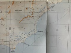 Malcolm 1:250,000 map of Israelite Bay and Ponit Dempster (spelio) Tags: old travel maps australia email cartography stuff mapping act documents ipad australiancapitalterritory 2015