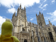 Swami at Canterbury Cathedral, Great Britian (ashabot) Tags: uk travel history cathedrals unesco swami unitedkingdon historicalsites seetheworld
