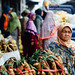 Muslim Woman in Vegetable Market, Mt. Lawu Indonesia