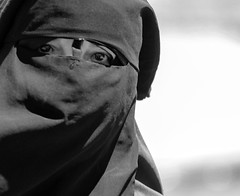 I am also horrified by the situation in Syria (ybiberman) Tags: israel jerusalem oldcity alquds muslimquarter ramadan fridayprayer woman portrait niqab candid streetphotography