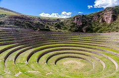 Terrasses de Moray (Voyages Lambert) Tags: maras urubambavalley cuzco inca ruined architecture agriculture peru southamerica andes mountainrange mountain terracedfield wall oldruin worldculturalheritage unitednationseducational scientificandculturalorganization doline unescoworldheritagesite