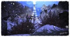 Twilight Moon (☀Vita Camino☀) Tags: secondlife giardini vita snow winter christmas slur caminosim autumn fall visit rent location rustic cozy gacha 8f8 applefall