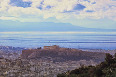 The Acropolis far away, Athens, Greece (@Katerina Log) Tags: athens greece griechenland ancient monument acropolis katerinalog 18105f4 outdoor nature natura landscape sky clouds sonyilce6500 sea seascape symbol city view cityscape ruins rock world architecture