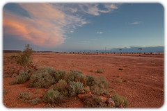 Prominent Hill Mine Camp (Craig Jewell Photography) Tags: arid australia clouds desert dry dusk greatvictoriadesert red sky southaustralia sunset iso1600 f90 ¹⁄₆₀sec canoneos5dmarkii ef1635mmf28liiusm copyright2016craigjewell 20161206204942mg9440and2moretif