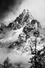 aiguille noire (matteo.sella) Tags: landscape montagne bw mountains aiguillenoire courmayeur montblanc snow mountainphoto