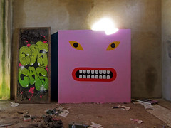 bodega cooperativa de felanitx (maximorgana) Tags: angry felanitx cellar pink green pg graffiti art street trashbit