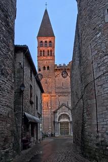 Light on Saint-Philibert Abbey  in Tournus