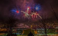 Happy New Year! (VidarSig) Tags: flugeldar fireworks kópavogur iceland hjálparsveitskátakópavogi 20162017 áramót canon5dmarkiii zeiss distagont2821 gullbringusýsla ísland flugeldasýning