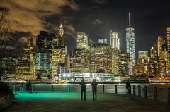 Nightly view of Manhattan (christopherbischof) Tags: newyork eastriver brooklinbridge manhattan skyline usa america river water gewässer fujifilmxe1