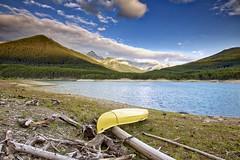 2017: where are you going to go? (John Andersen (JPAndersen images)) Tags: alberta canoe clouds forest kananaskis lake logs lowerkananaskislake mountains sunrise