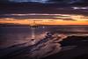 Purple Waves (ianrwmccracken) Tags: platform fife nikon sunset d750 purple golden sky riverforth dusk estuary sea oilrig clouds