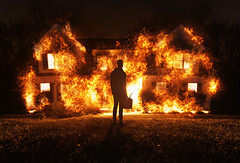Happy New Year (Nate Bittinger) Tags: nate bittinger maryland fire conceptual surreal house new year