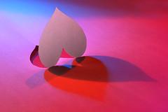 Heart for Macro Mondays (Wim van Bezouw) Tags: macromondays heart paper cut colour shadow
