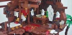 TT:R1: Something Valuable... (W. Navarre) Tags: lego potc pirates pirate ship wreck shipwreck brown tourney tt r1 palm cabin captain deck cannon