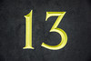 Lucky For Some (StevePilbrow) Tags: 13 thirteen memories first house home slate white turned yellow abstract outdoor housesign number bicester oxfordshire 2016 nikon d7200 nikkor 18105mm