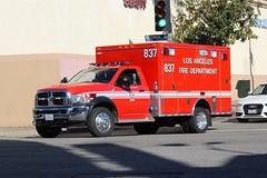 LAFD (So Cal Metro) Tags: ambulance paramedic emt ems rescue la losangeles dodge ram lafd losangelesfiredept losangelesfd losangelesfire westwood