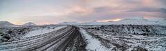 The gravel road to Berserkjahraun, Western Iceland (JamesPyle) Tags: iceland2017grundafijournorthernlightsstarswinter berserkjahraun iceland fuji xt2 1024mm snow gravel road landscape lava mountains