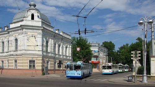 Irkutsk trolleybus central loop ©  trolleway