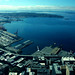 West Seattle, and the docks, Puget Sound from Columbia Tower, Seattle, Washington, USA
