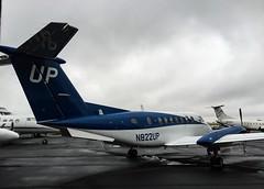 Wheels Up! (lijk604) Tags: weather airplane ramp cloudy aircraft aviation beechcraft beech kingair kingair350 frg wheelsup kfrg be350 photohopexpress