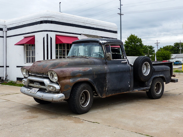 route66 rust rusty oldschool missouri hotrod crusty carthage streetrod ratrod johnchrist bootscourt 1958gmc100pickuptruck