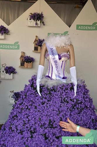 100mm wit sjerp met violet bedrukt