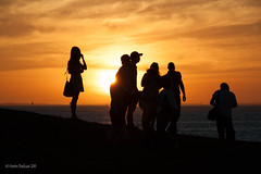 Beautiful Sunset at St Kilda (Martin Bazkiaei) Tags: ocean sunset red hot beautiful canon fire photo nice martin australia melbourne vic stkilda        bazkiaei martinbazkiaei