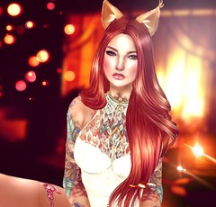 Pumpkin (Reika Enyo Taking Clients) Tags: photoshop photography ginger avatar redhead sl secondlife edit paintover
