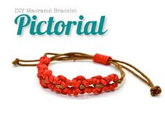 DIY Macrame Bracelet PDF PICTORIAL (Raquel's Designs) Tags: diy micro macrame tutorials margaretenspitze