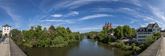 Lahn River View from the old Lahn Bridge in Limburg