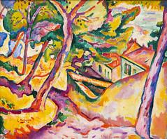 DTK_9378r Landscape at L'Estaque, Georges Braque, 1906 (crobart) Tags: chicago art landscape institute 1906 georges braque lestaque