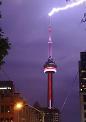 CN Tower Lightning (Crash Fistfight) Tags: lighting toronto long exposure cntower storms