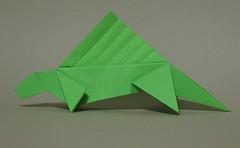 Dimetrodon Fest - Momotani (mr.origami) Tags: brown dan model origami dinosaur mr daniel dimetrodon yoshihide kareshi momotani mrorigami