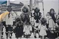 "Old Black & White 'Eskimaux"" Eskimo Family Group Photograph Alaska USA (eriagn) Tags: wood travel sculpture usa fish bird art alaska hair photography etching basket mask patterns teeth traditional feathers documentary craft hide photograph mammoth inuit whale figures moonface walrus loon tusks familygroup basketweave artefacts yupik whalebone nativepeople scrimshaw inupiaq eriagn ngairehart loonn ivorycarvingfurwaterproofdollsseal gutbeadsforgetmenotsfacestextureswalruspolar beargrebes fossilisedivory"