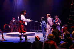 Paul Schoeffler as Captain Hook with the company in Peter Pan, produced by Music Circus at the Wells Fargo Pavilion July 21-26, 2015. Photo by Charr Crail.